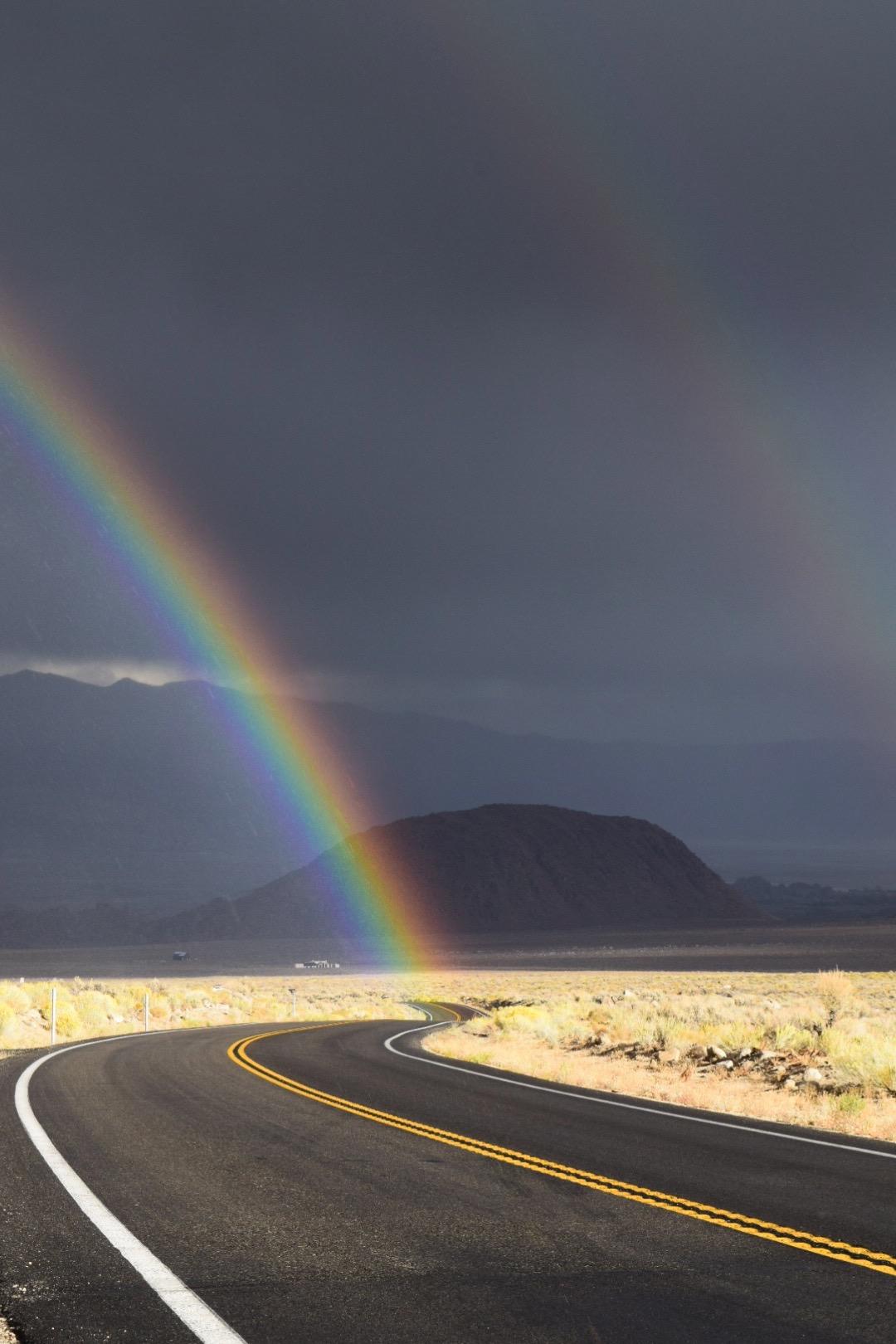 A double rainbow.