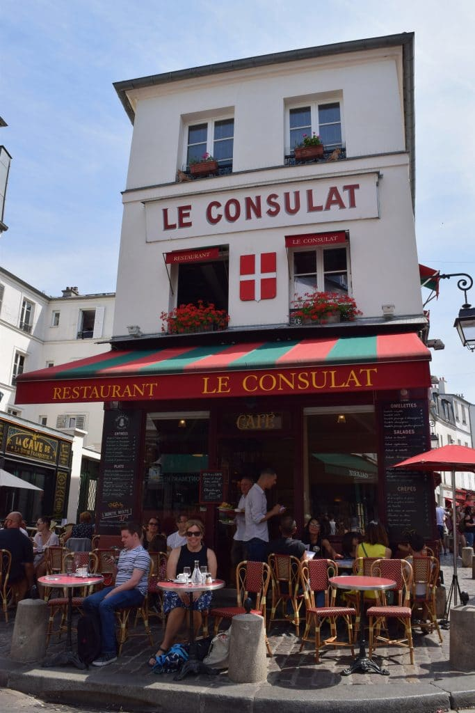 The historic Le Consulat in Montmartre, Paris.