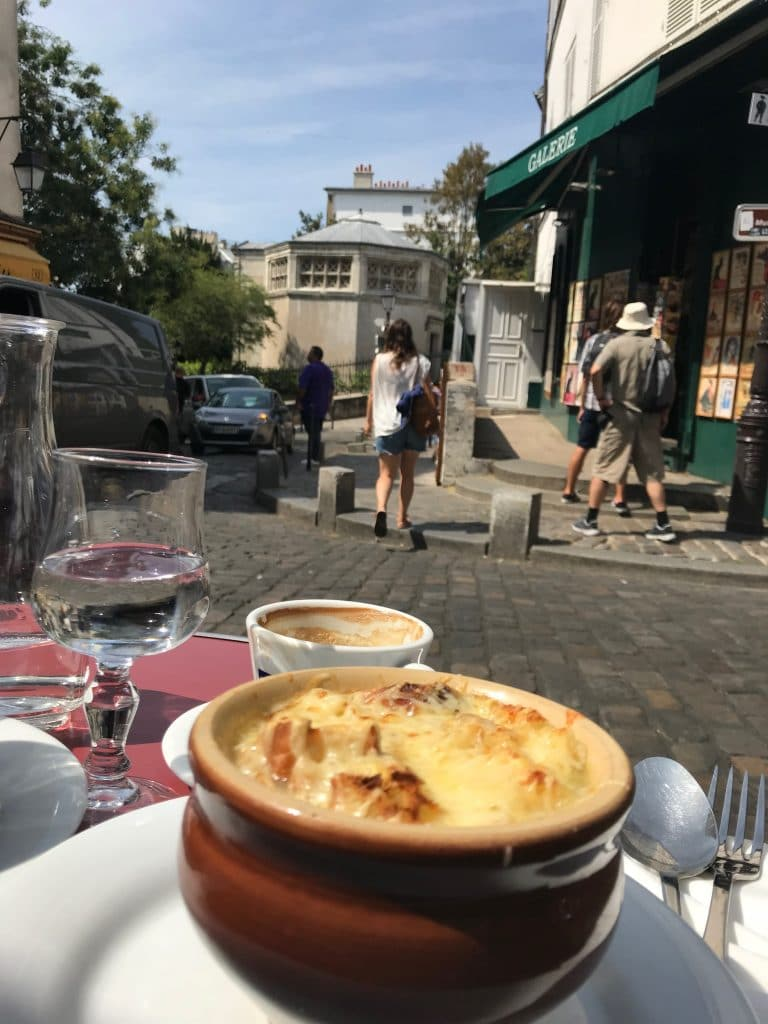 French Onion Soup With a View