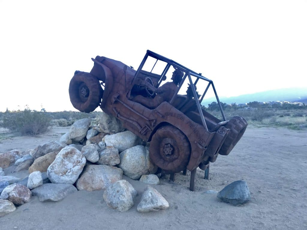 Life-Sized Art Sculptures in the Desert