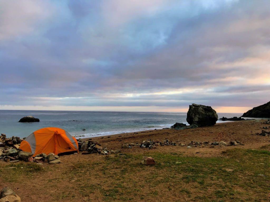 Camping at Parsons Landing